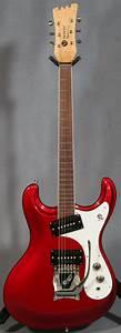 Mosrite 65 Reissue Guitar In Candy Red  Ed Roman Guitars