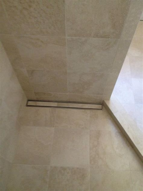 linear drain       large format tile