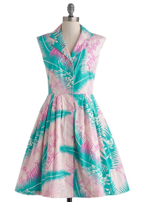 Bake Shop Browsing Dress in Palms, #ModCloth | Vintage ...