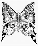 Butterfly Coloring Drawing Pages Printable Mandala Printables Butterflies Drawings Animal Adult Easy Simple Adults Hope Abstract Colouring Related Sheet Filminspector sketch template