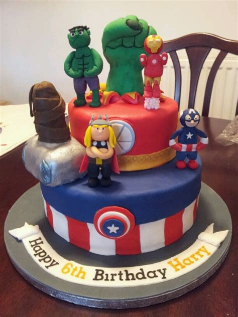 Marvel comic cake includes captian america spidermad the hulk and wolverine scratching threw the cake. Avengers - CakeCentral.com