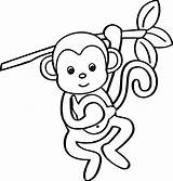 Coloring Monkey Cartoon Wecoloringpage Animals Pages Source sketch template
