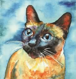 cat painting siamese cat by freeman