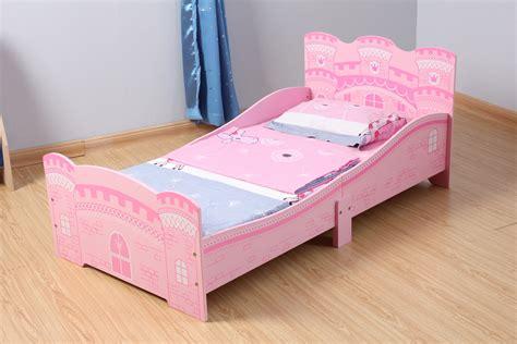 Girls Pink Castle Princess Toddler Bed With Mattress Mcc
