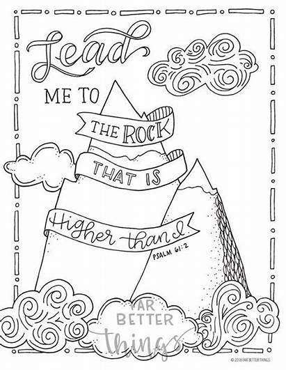 Bible Coloring Psalm Verse Verses Sunday Printable