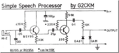 Radio Circuits Blog Simple Speech Processor For Ssb Rig