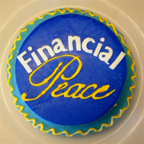 My Cake For Dave Ramsey's Financial Peace University. All