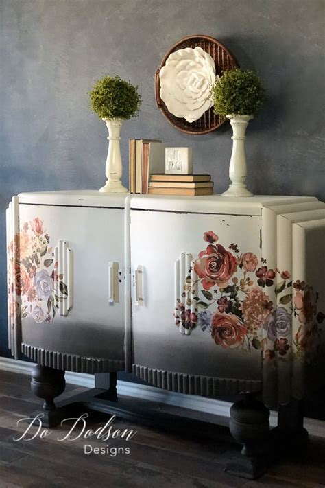 Adding Interest To Neutral Decor by How To Easy Decor Transfers For Painted Furniture