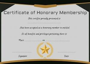 14  Honorary Life Certificate Templates