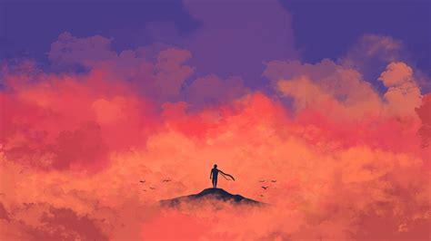 Anime Alone Hd Wallpaper - wallpaper alone minimal 4k 9105
