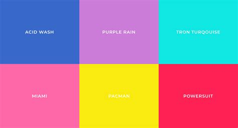 80s color palette most popular colors defining each decade the 20st into