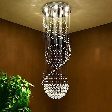 led crystal ceiling chandeliers pendant light indoor home