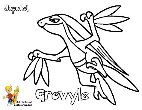 Grovyle Colouring Pages