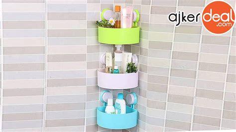Triangle-shaped Bathroom Corner Shelf