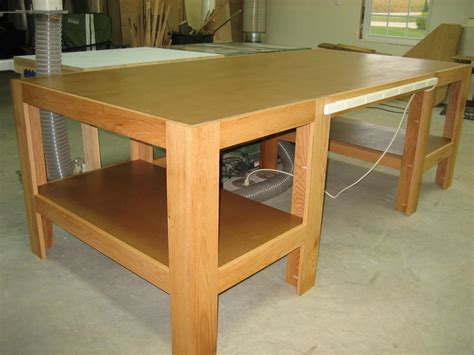 woodworking plans wood shop table  plans