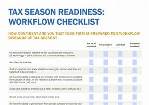 Tax Practice Workflow Chart Workflow Checklist Is Your Firm Ready For Tax Season