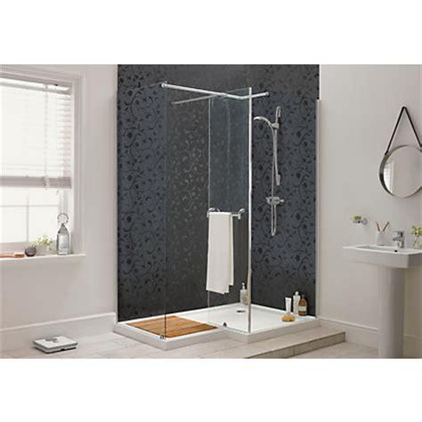 aqualux sapphire  shape shower enclosure lh   mm