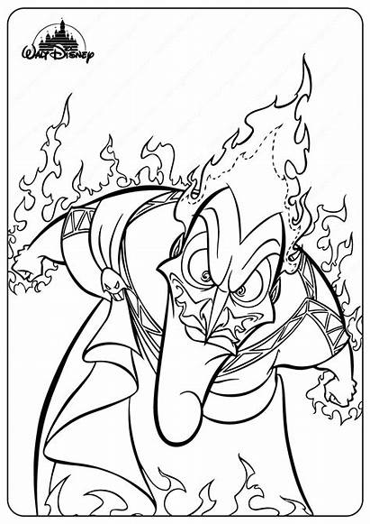 Coloring Evil Hades Disney Printable Witch Halloween