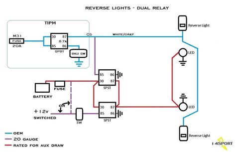 switchable aux reverse lights schematic feedback