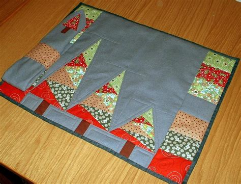 quilted placemats patterns susie 39 s sunroom trio of trees placemat