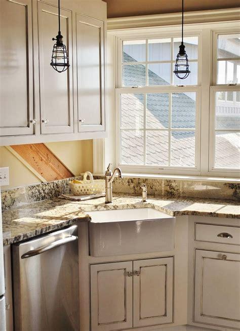 Corner Kitchen Sink Design Ideas Throughout Inspirations