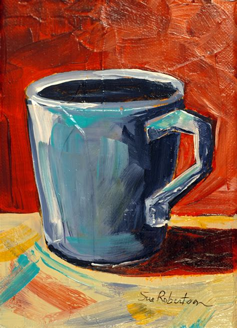 Artist angela anderson teaches how to paint a simple coffee or hot cocoa mug with easy to follow acrylic painting instruction. Joyful Art: Coffee Cups