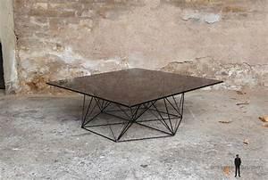 Pied De Table Basse Metal : table basse vintage design pieds m tal eiffel plateau verre ~ Teatrodelosmanantiales.com Idées de Décoration