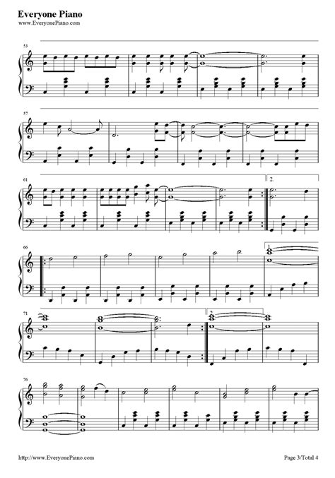 count on me bruno mars stave preview 3 free piano sheet