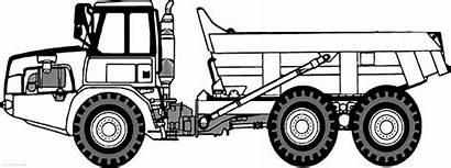 Coloring Truck Dump Semi Trailer Side Trucks
