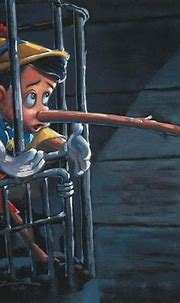Pinocchio save a bird cartoon for kids Painting in Oil for ...