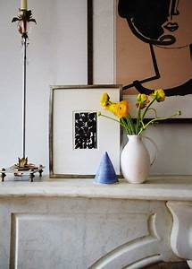 A, Few, Decor, Items, Sitting, On, A, White, Marble, Mantel, Pinned, By, Chirenovation