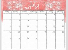 July 2019 Printable Calendar Templates Calendar Niche