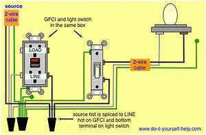Light Switch With Gfci Schematic Wiring Diagram