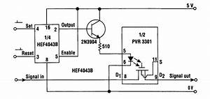 Solid State Latching Relay - Relay Control - Control Circuit - Circuit Diagram