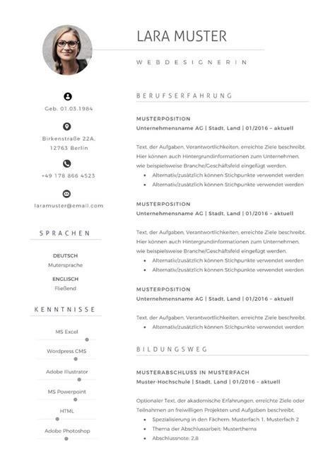 Lebenslauf Herunterladen Vorlage by 77 Lebenslauf Muster Und Vorlagen F 252 R 2018