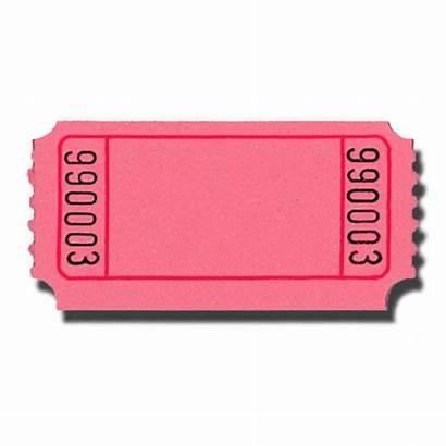 Blank Tickets Roll Pink Doolins Single