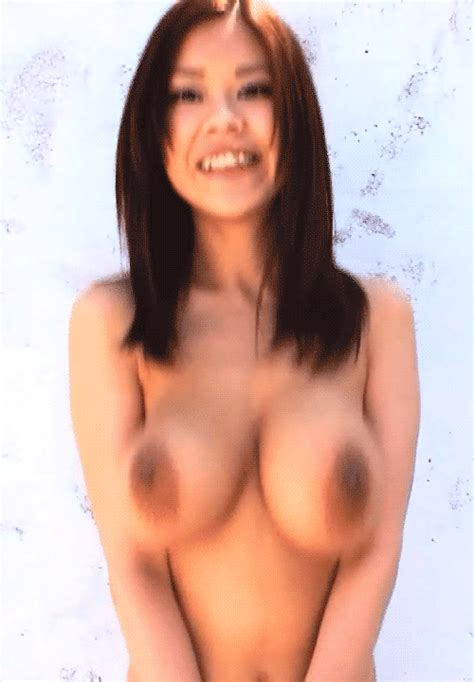 Topless Asian Brunette Babe Jumping Bald Real Medium Sized