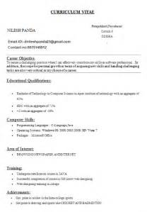 basic resume format for engineering students resume templates