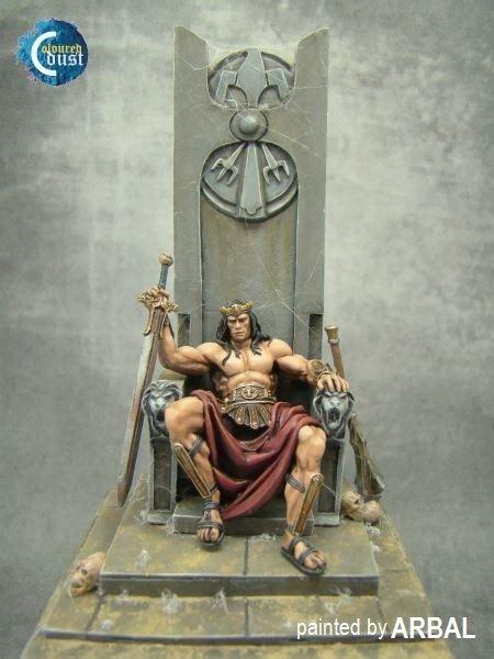 miniatures usurper 54mm conan figures fantasy painted miniature figure painting barbarian paint coolminiornot