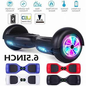 6 5 U0026quot  Led Wheels Hoverheart Hoover Boards Chrome Electric