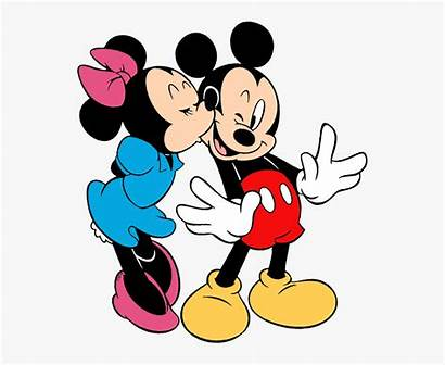 Minnie Mickey Mouse Clip Kissing Kiss Clipart