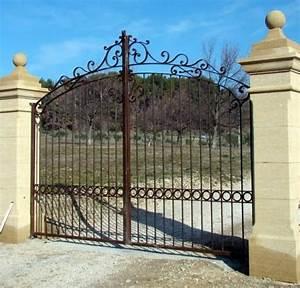 Portail 3 Metres : portail fer forge 4 metres portail 3m coulissant carlier ~ Premium-room.com Idées de Décoration