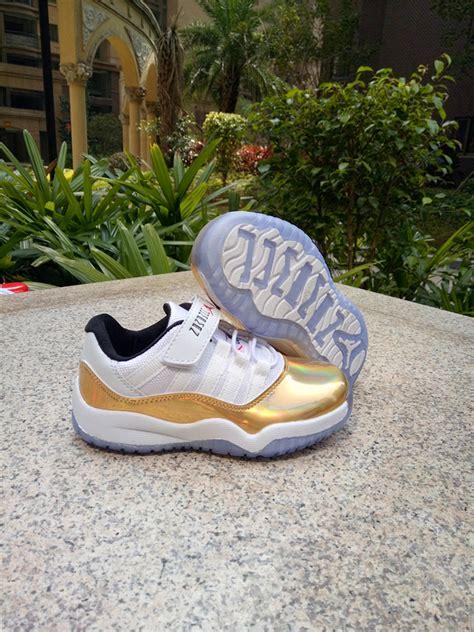 nike air jordan xi  retro  gold kids shoes febbuy