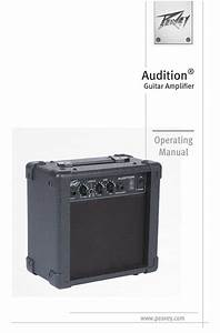 Peavey Audition Operating Manual Pdf Download