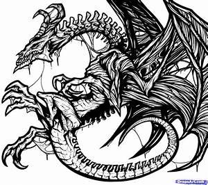 Tattoo Designs Drawing How To Draw A Dragon Tattoo Design ...