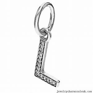 order pandora charms sparkling alphabet l pendant bbe18 With pandora letter l charm