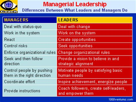 managerial leadership manager  leader synergy