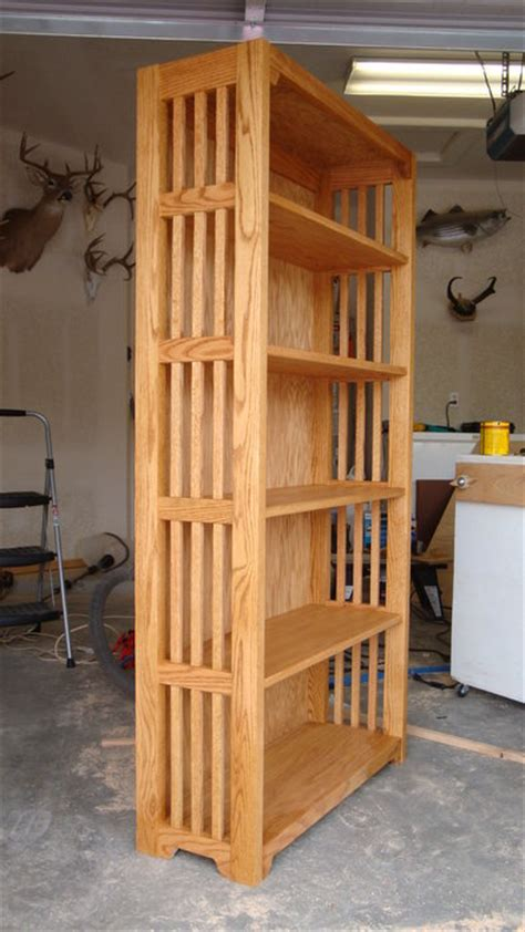 woodwork mission style bookcase plans  plans