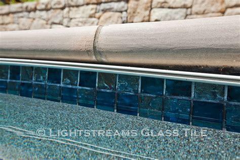 6x6 Waterline Pool Tile by Lightstreams Glass Waterline Tile Various Colors
