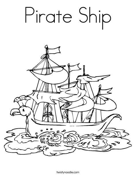 Pirate Ship Coloring Page by Pirate Ship Coloring Page Twisty Noodle